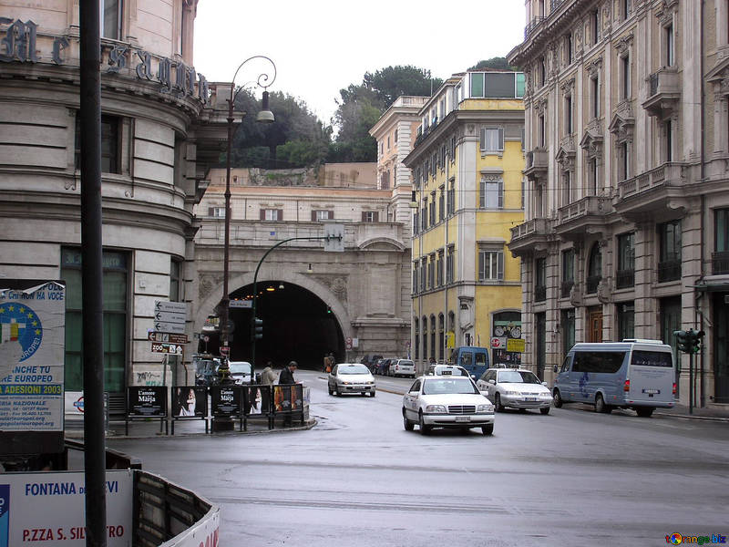 Italy roads city road Rome
